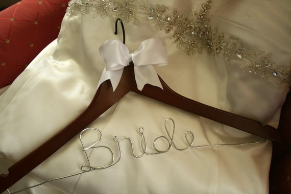Wedding hanger wedding dress hanger personalized bridal for Wedding dress hangers with name