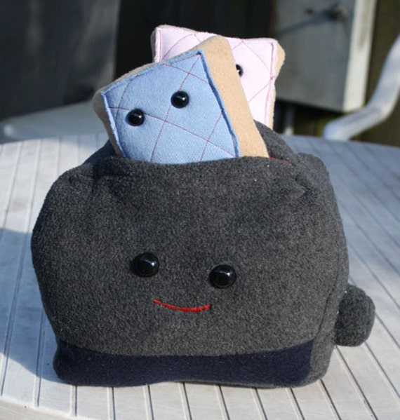 Toaster and the Pop Tart Twin Plushies by htavos on Etsy