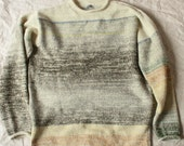 Birch Forest Heather Mens Knit Cotton Tape and Kid Mohair Sweater