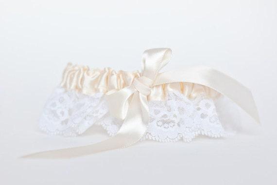 Wedding Garter - Heirloom Ivory Vintage Lace Bridal Garter - Clearance Sale