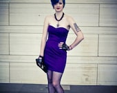 SALE- Strapless Purple Cocktail Dress - Small