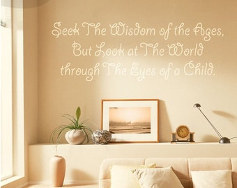 Through the Eyes of a Child Quote - Vinyl Wall Decal