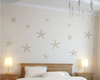 stunning starfish set of 12 vinyl wall decal - Wall Vinyl Designs