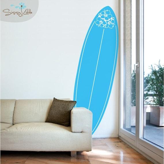 Pura Vida Surfboard Vinyl Wall Decal
