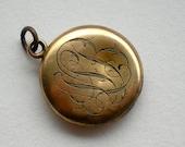 Antique Victorian Monogram Gold Locket