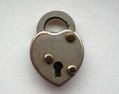 Antique Tiny Heart Padlock Lock