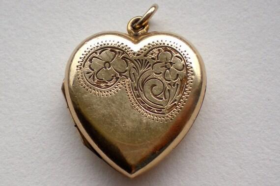 Antique Rolled Gold Heart Locket
