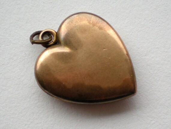 Antique Gold Heart Locket Charm Pendant