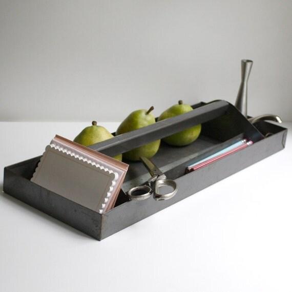Vintage Industrial Desk Organizer / Tray