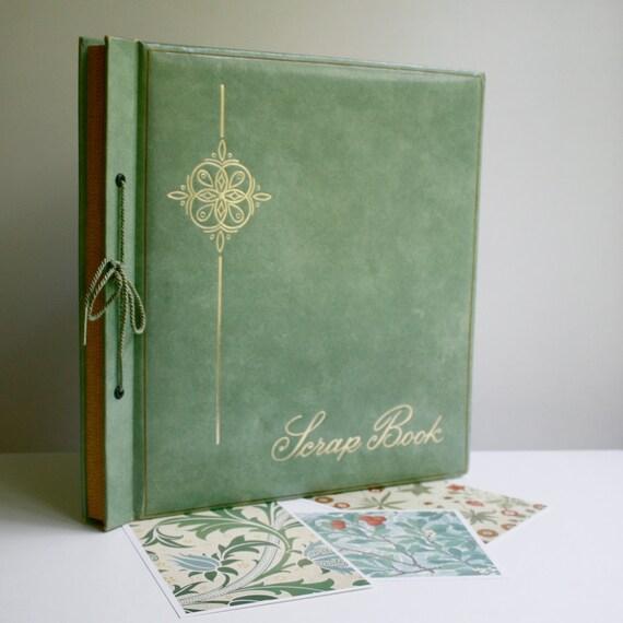 Vintage Scrap Book - Green Cover