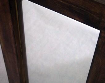 Repurposed dark stained maple mirror by heidiBARKUNframes