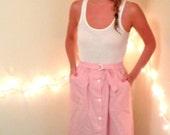 Gorgeous High Waisted Cotton Pinstripe Skirt