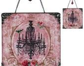 Chandelier Glass Wall Decoration - Vintage Paris Fashion  - Salon de Paris Chandelier