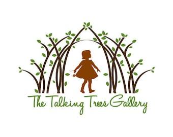 Custom Logo Design - Business Logo Brand - Graphic Design Logo - Girl in Woods Logo