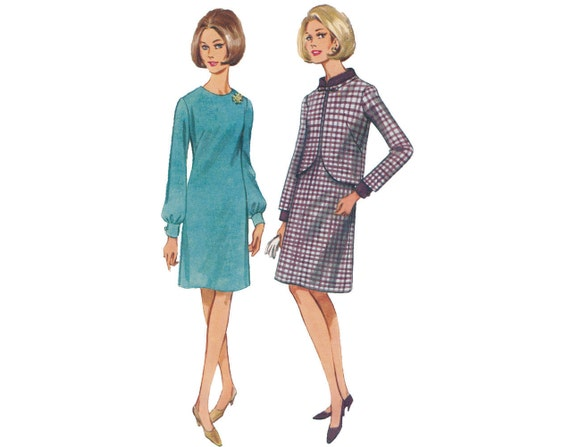 LAST CHANCE Vintage 1960s Dress and Jacket Butterick Sewing Pattern 4262
