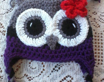 Toddler Size Owl Hat