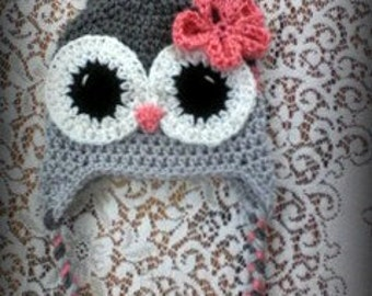 Size 12-24 mos. Owl Hat