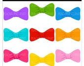 bow clip art digital clip art cute pretty colorful - Lil Bows - Digital Clip Art