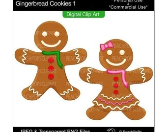 Popular items for gingerbread clip art on Etsy