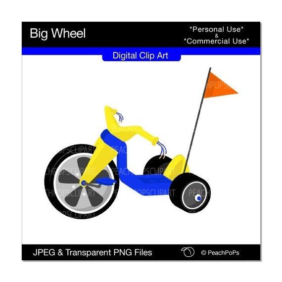 Tricycle Wheel Clip Art : Big wheel digital clip art websites web design banners