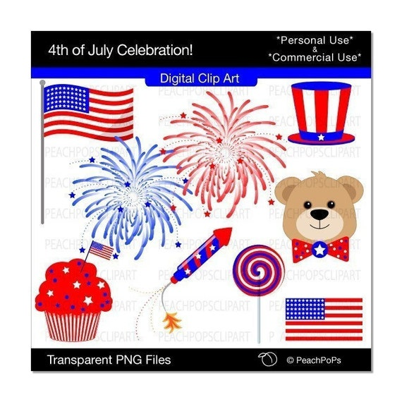 May The Fourth Be With You Clip Art: Items Similar To 4th Of July Clip Art Digital Clip Art