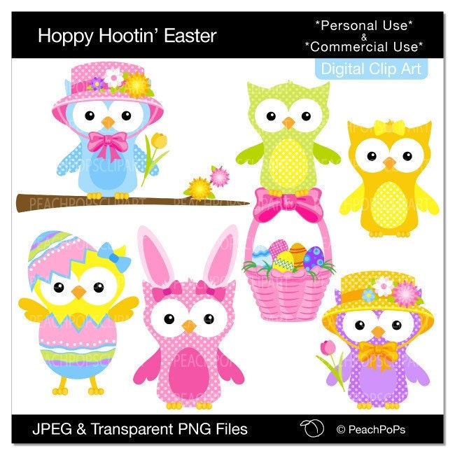 free easter owl clip art - photo #12