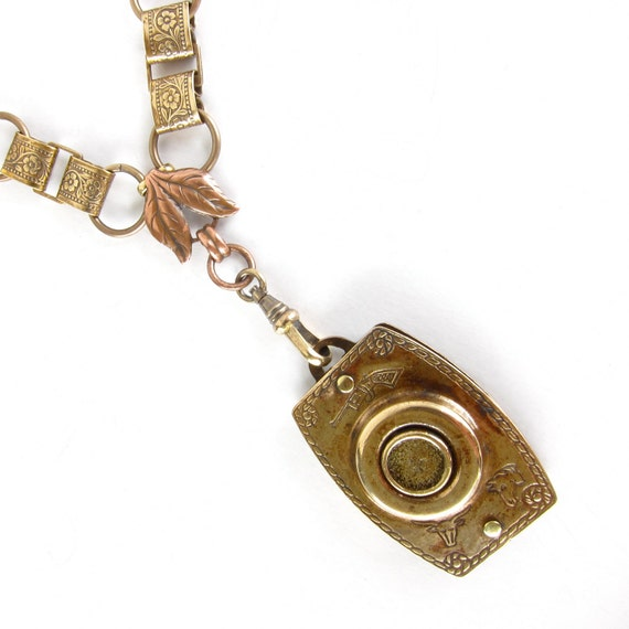 RESERVED FOR SUE - One of Six - Straight Shooter - necklace - antique vintage assemblage