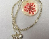 Flower Necklace with handpainted look