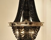 Reclaimed Metal and Bicycle Chandelier - 22 inch height x 12.5 inch diameter - Facaro, CONNECT 3