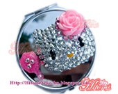 Kitty in the Mirror Deco Compact- Reserved