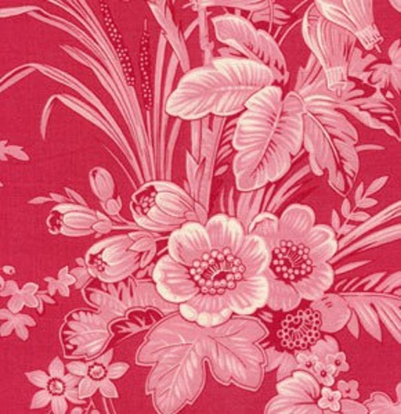 Almost Gone...Free Spirit Toile Cranberry red 1/2 Yard