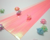 Glossy Pearl Pastel Peach Origami Lucky Star Paper Strips - pack of 100 strips