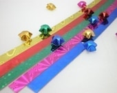 Hologram Gem Stone Origami Lucky Star Paper Strips - pack of 80 strips