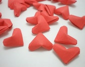 50 Be My Valentine - Romantic Red Origami Lucky Hearts - custom order available