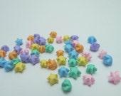 50 ULTRA mini - Baby Pastel Rainbow Miniature Origami Lucky Stars