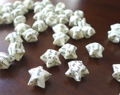 """100 Vintage Style """"Love Story"""" Origami Lucky Stars - custom order available"""