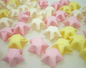 100 Baby Shower Pastel Origami Lucky Stars for newborn baby girl - custom order available