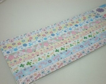 Hearts, Love and Flowers (Part III) Origami Lucky Star Folding Paper - pack of 160 strips