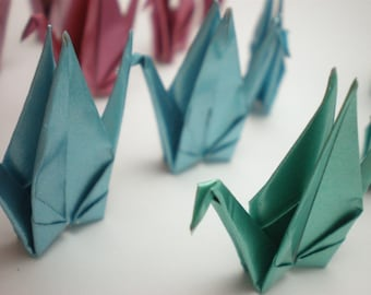 12 Cool Shine Traditional Japanese Origami Paper Cranes