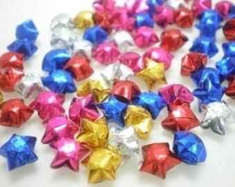 100 Star Glitter Gem Stone Miniature Origami Lucky Stars