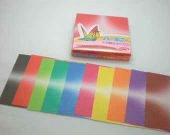 Magical Gradient Paper Pack for Origami Paper Crane Folding - 64 sheets