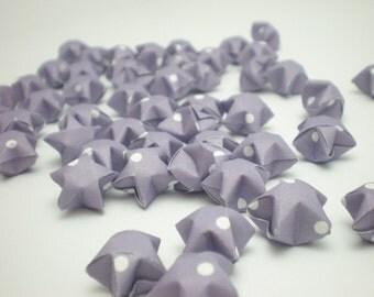100 Lavendar Purple Polka Dots Origami Lucky Stars - custom order available