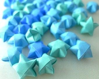 100 Ocean Breeze - Blue Origami Lucky Stars - custom order available
