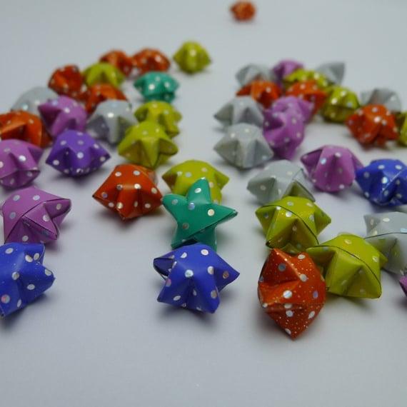 100 Rainbow Shower Diamond Polka Dots Origami Lucky Stars