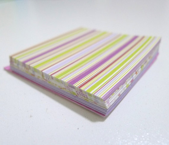 90pcs Groovy Retro Chic Square Paper Pack for Japanese Origami Paper Crane Folding