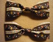 Brown Vintage Ribbon Bow Set (small)