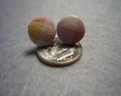 Cute as a Button Plaid Earings (tiny)