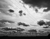 Black And White Photography Sky Clouds Home Decor 12x8 Print Big Sky...