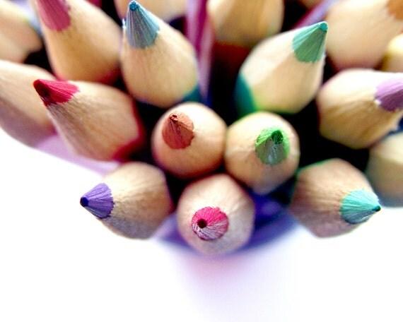 Coloured Pencils Photography Children Home Decor 10x8 print Colour Me...