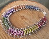 Ladies Bracelet Rainbow Skittles Chainmaille